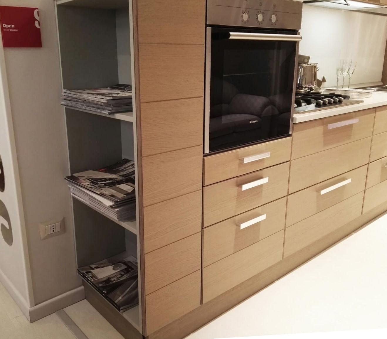 Cucina scavolini open moderna legno cucine a prezzi scontati for Cucina moderna prezzi