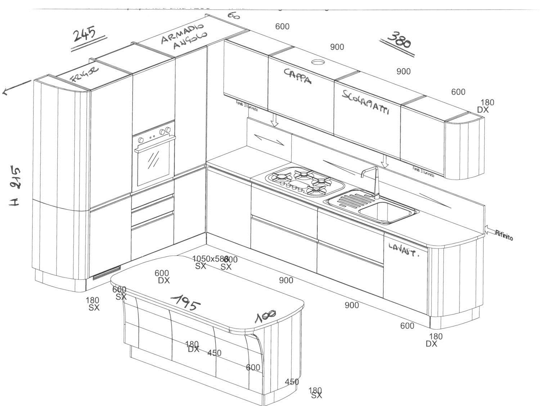 Misure cucine scavolini 28 images emejing misure cucine scavolini images ideas design - Altezza isola cucina ...