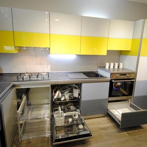 Cucina Scavolini Tetrix con living - Cucine a prezzi scontati