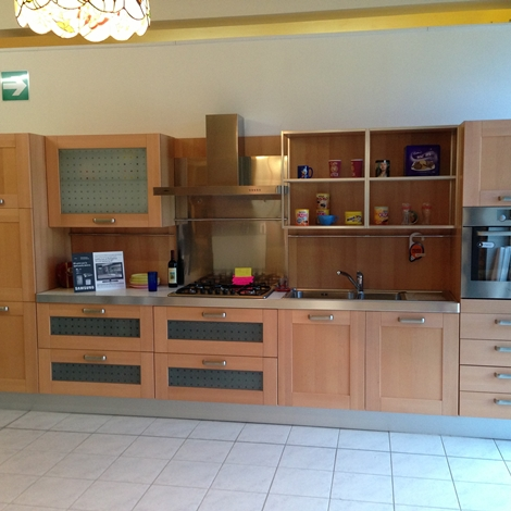 Cucina scic portorotondo moderna legno rovere chiaro cucine a prezzi scontati - Cucina scic prezzi ...