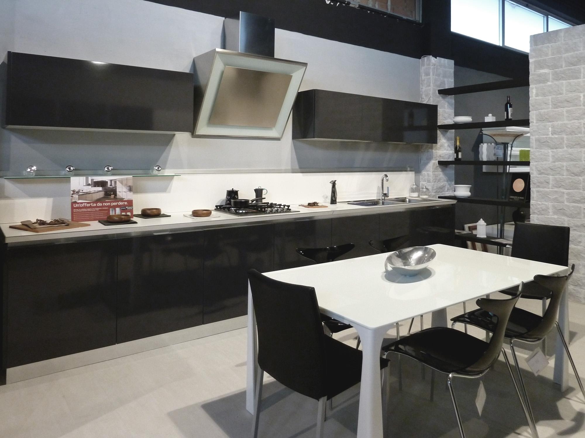 Laminato Lucido Grigio Graffite Con Gola Alluminio Top Laminato Bianco  #634F44 2000 1500 Top Cucina In Laminato Bianco