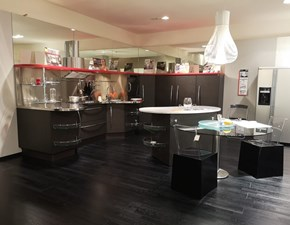 Cucina Skyline moderna rovere moro ad angolo Snaidero