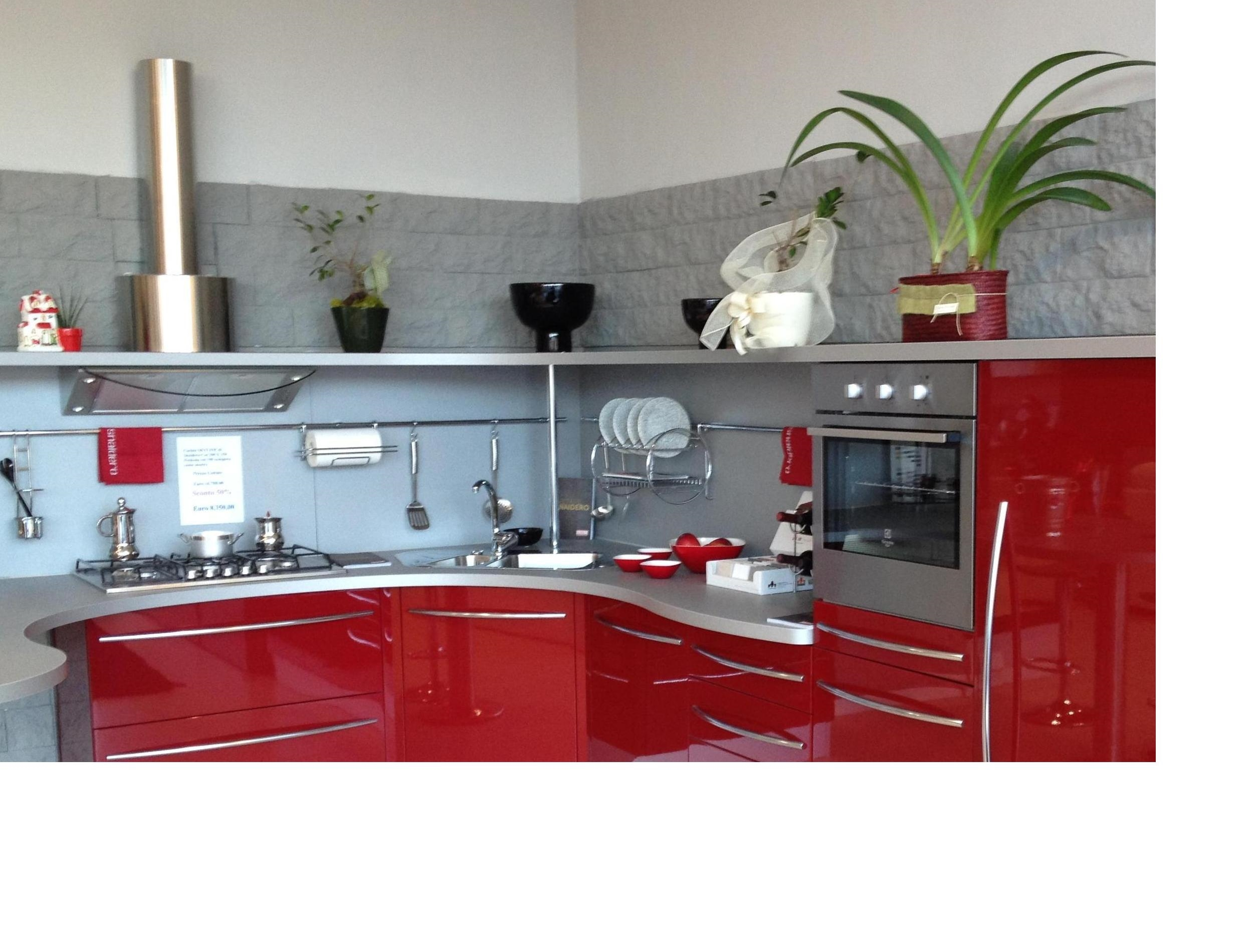 Cucina Snaidero Skyline Scontato Del  54 % Cucine A Prezzi Scontati #86181F 2500 1900 Quanto è Alto Il Top Della Cucina