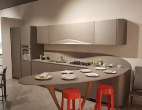 Cucina Snaidero design con penisola grigio in laccato opaco Ola 20