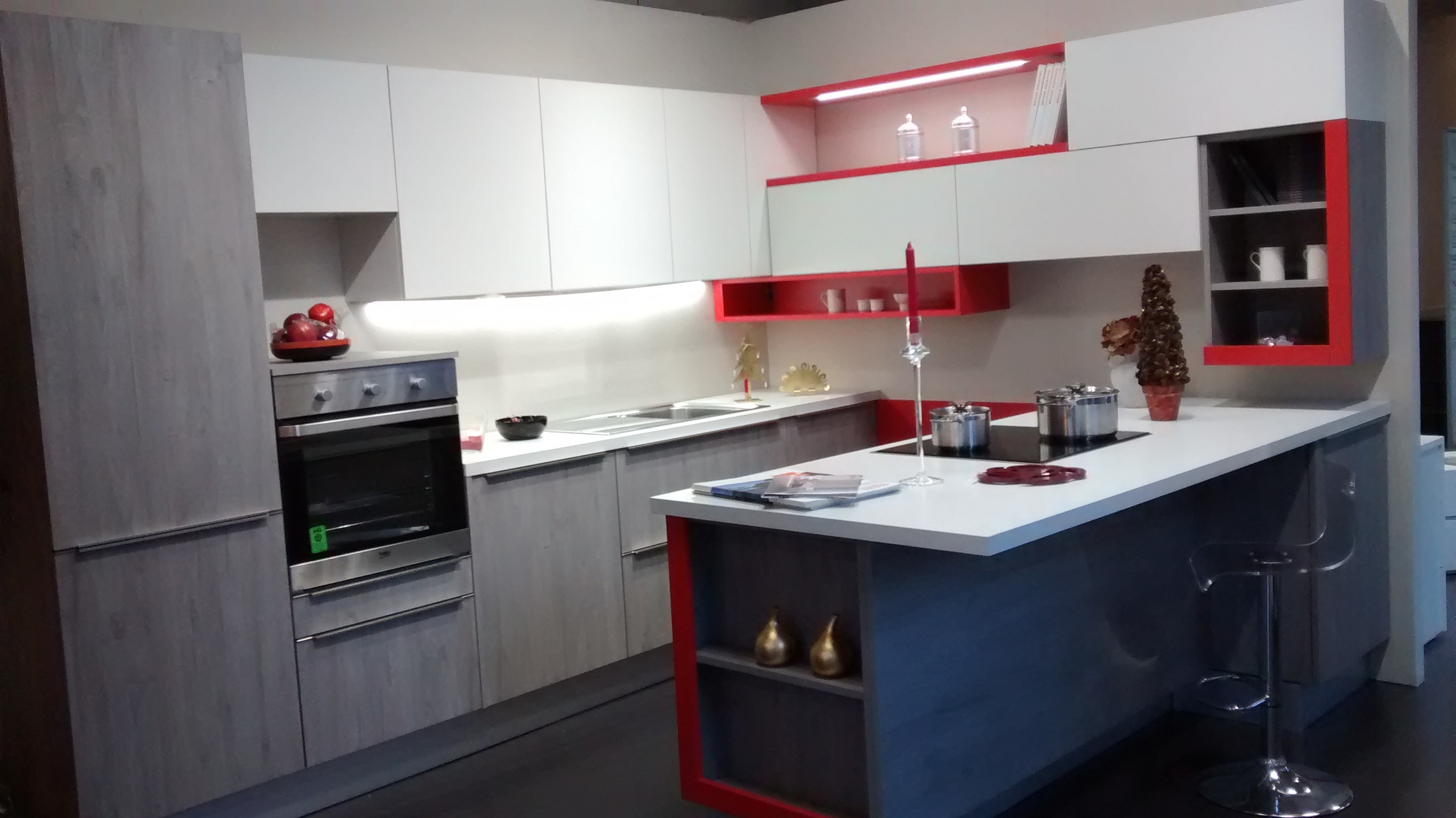 Cucina Snaidero Modello Streep Moderna Laminato Materico Grigio  #A42732 2592 1456 Top Cucina In Laminato Opinioni