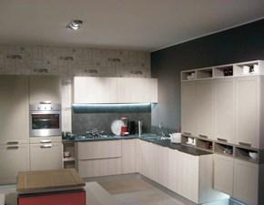 Cucina Snaidero moderna ad angolo tortora in nobilitato Contempo tortora strip olmo