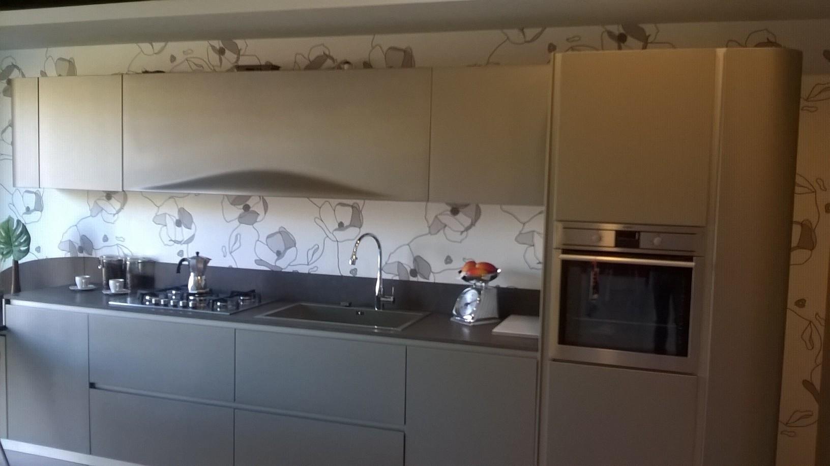 Cucina Snaidero Ola 20 Design Laccato Opaco grigio - Cucine a prezzi scontati