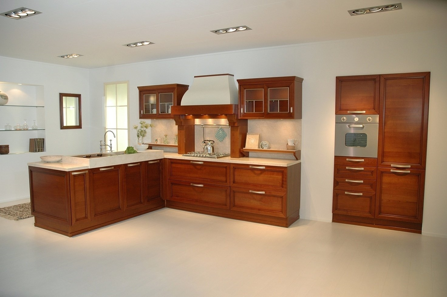 Cucina Snaidero Certosa Con Ante In Legno Ciliegio Come In Foto.Top In  #4B1F0D 1472 979 Veneta Cucine O Snaidero