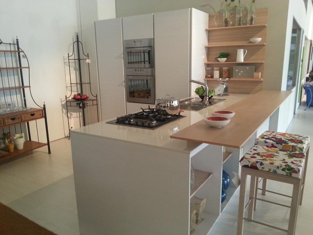 abbastanza Cucina Bianca E Legno ~ Idea Creativa Della Casa e Dell'interior  AH34