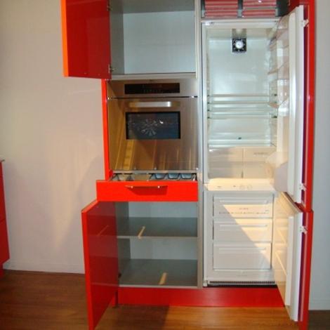 Cucina snaidero venus moderna laccato lucido rossa - Cucina moderna rossa ...