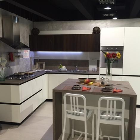 Cucina snaidero way design laccato opaco bianco luce e - Cucina rovere bianco ...