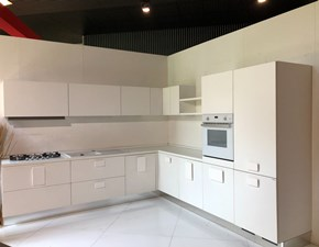 Cucina Solo bianco moderna bianca ad angolo Scic