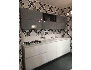 Cucina Space /lab moderna grigio lucido e bianca opaca lineare Forma 2000
