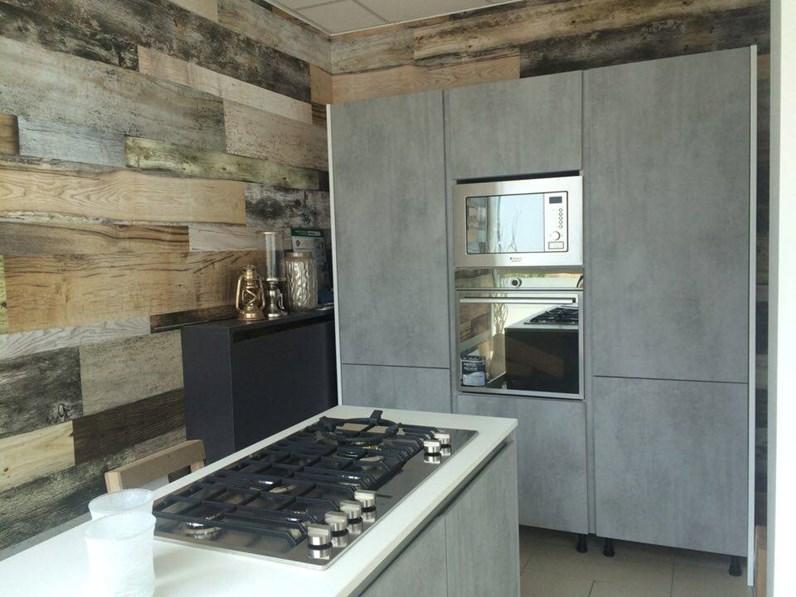 Spagnol cucine Cucina effetto cemento Moderne Laminato Materico