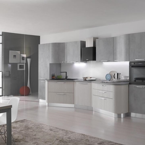 Cucina spar round laminato materico cucine a prezzi scontati - Spar cucine moderne prezzi ...