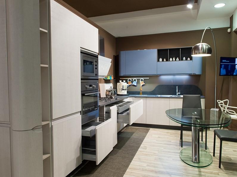Stosa Cucine Cucina Bring Moderna Laminato Materico bianca