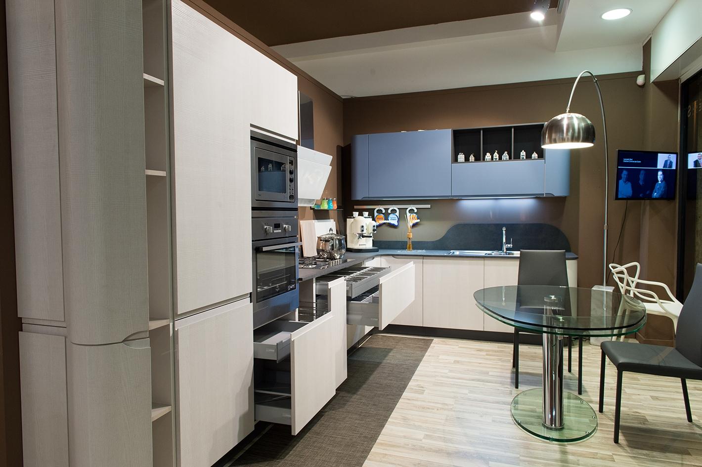 Stosa cucine cucina bring moderna laminato materico bianca cucine a prezzi scontati - Altezza cucina stosa ...