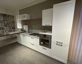 Cucina Stosa classica lineare bianca in legno Maxim