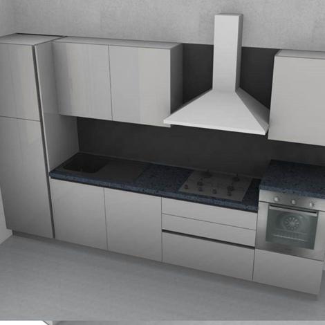 Stosa cucine cucina alev laccata bianca lucida con gola brill scontato del 54 cucine a - Cucina bianca laccata lucida ...
