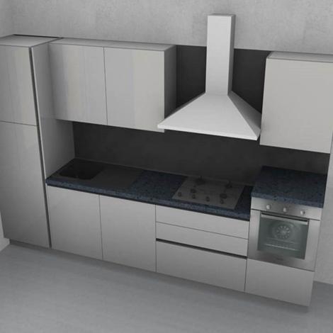 Stosa cucine cucina alev laccata bianca lucida con gola for Outlet cucine abruzzo
