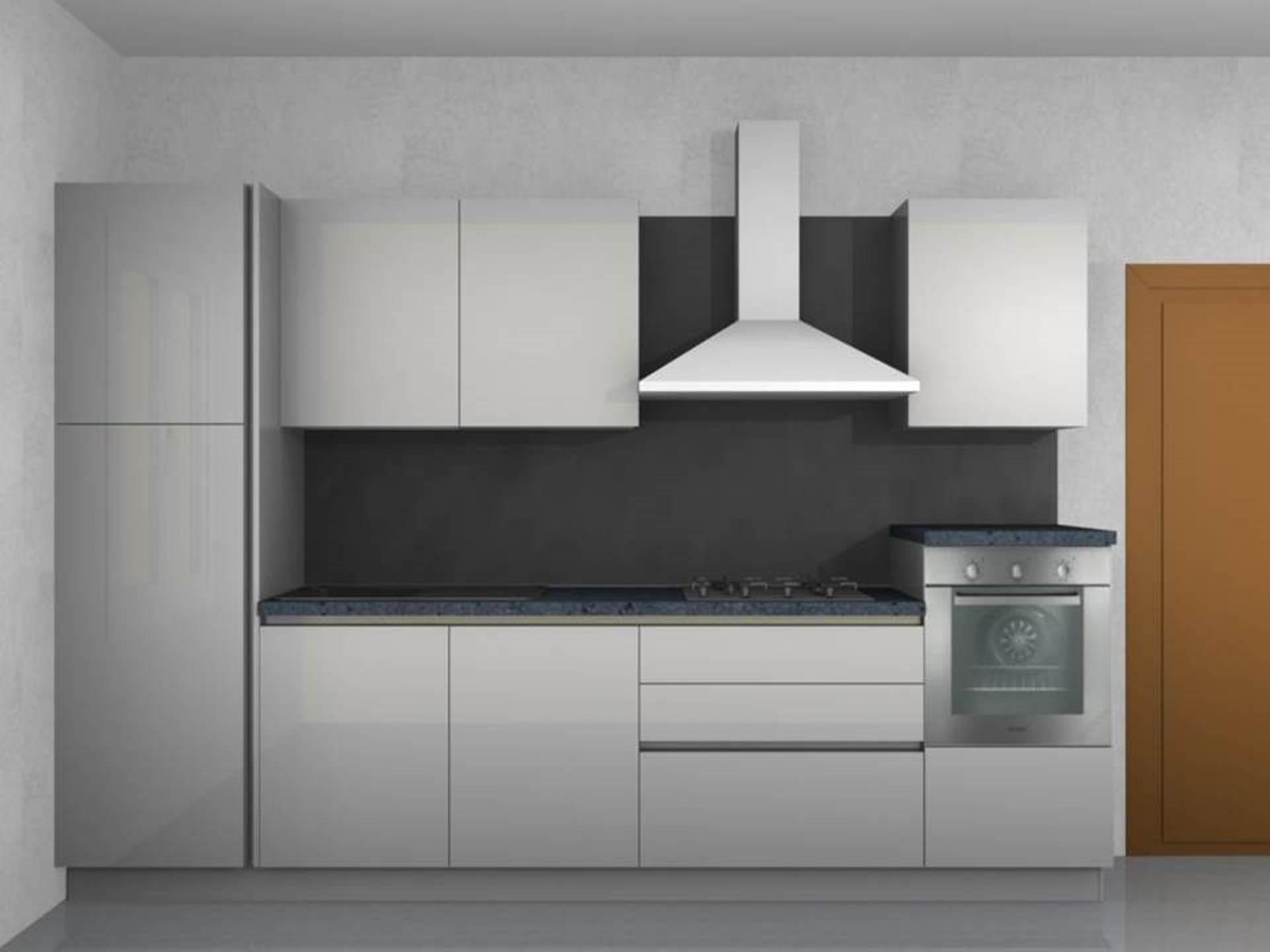 Stosa cucine cucina alev laccata bianca lucida con gola - Cucina bianca laccata lucida ...