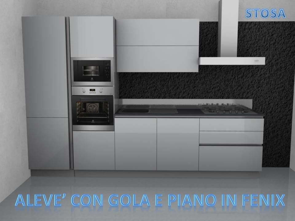 Stosa cucine cucina alev laccata bianca lucida scontato - Cucina bianca laccata lucida ...