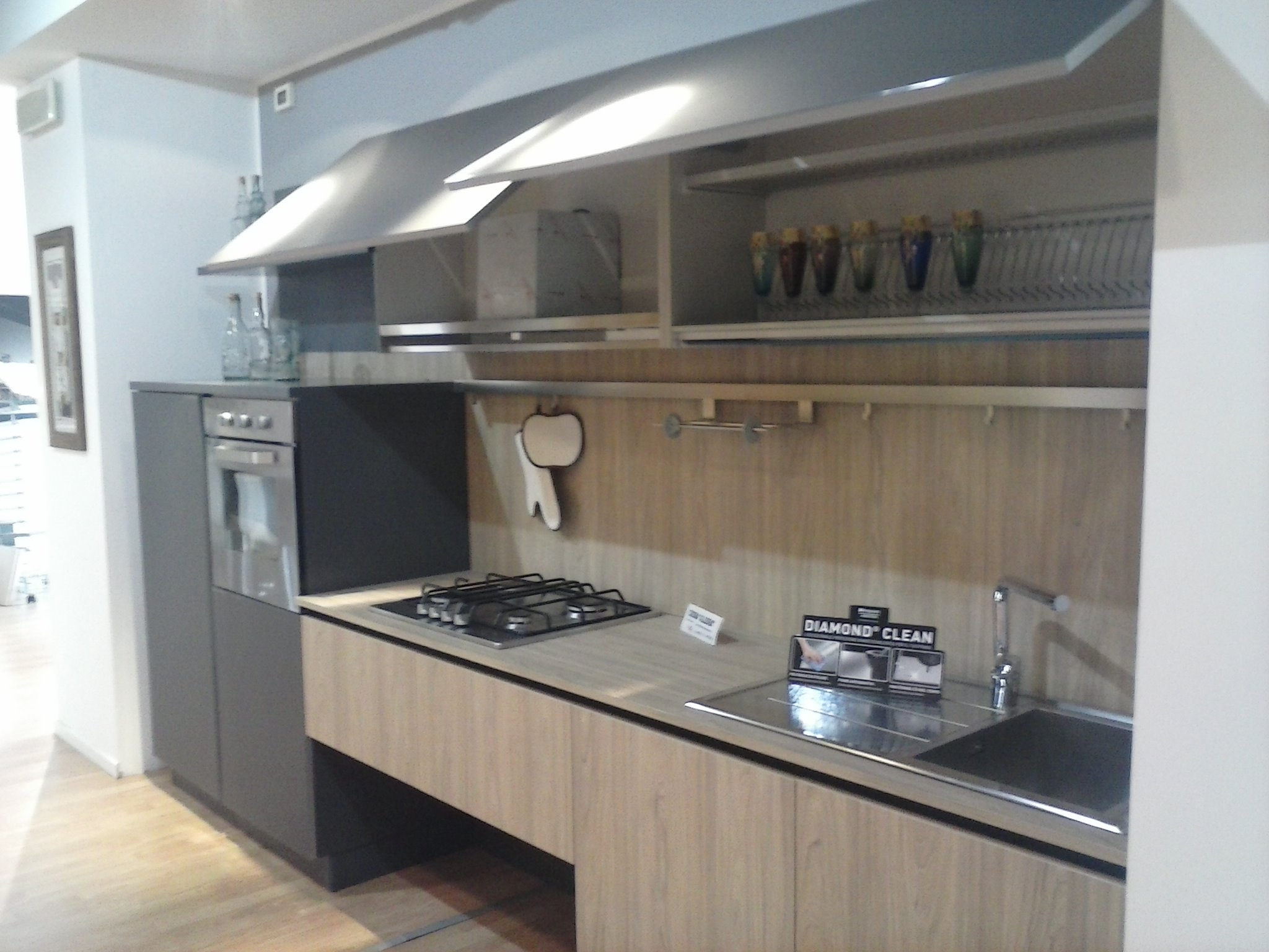 Cucina stosa cucine aleve 39 moderna laminato materico neutra cucine a prezzi scontati - Cucina stosa prezzi ...