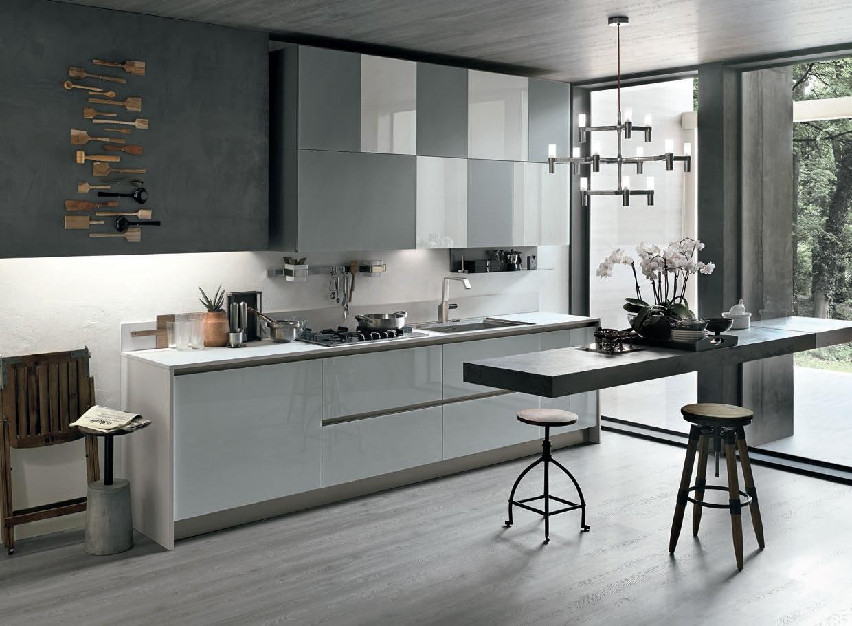 Cucina stosa cucine aliant vetro lucido cucine a prezzi - Cucine in cemento ...