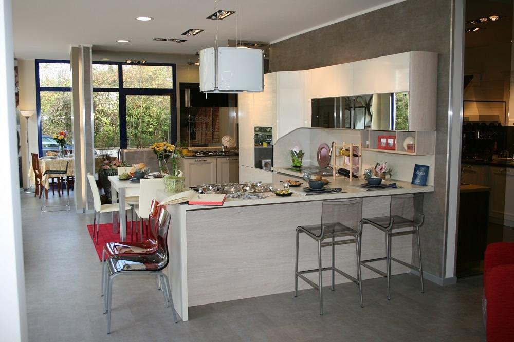 Stosa cucine cucina allegra scontato del 64 cucine a for Cappa sospesa per isola