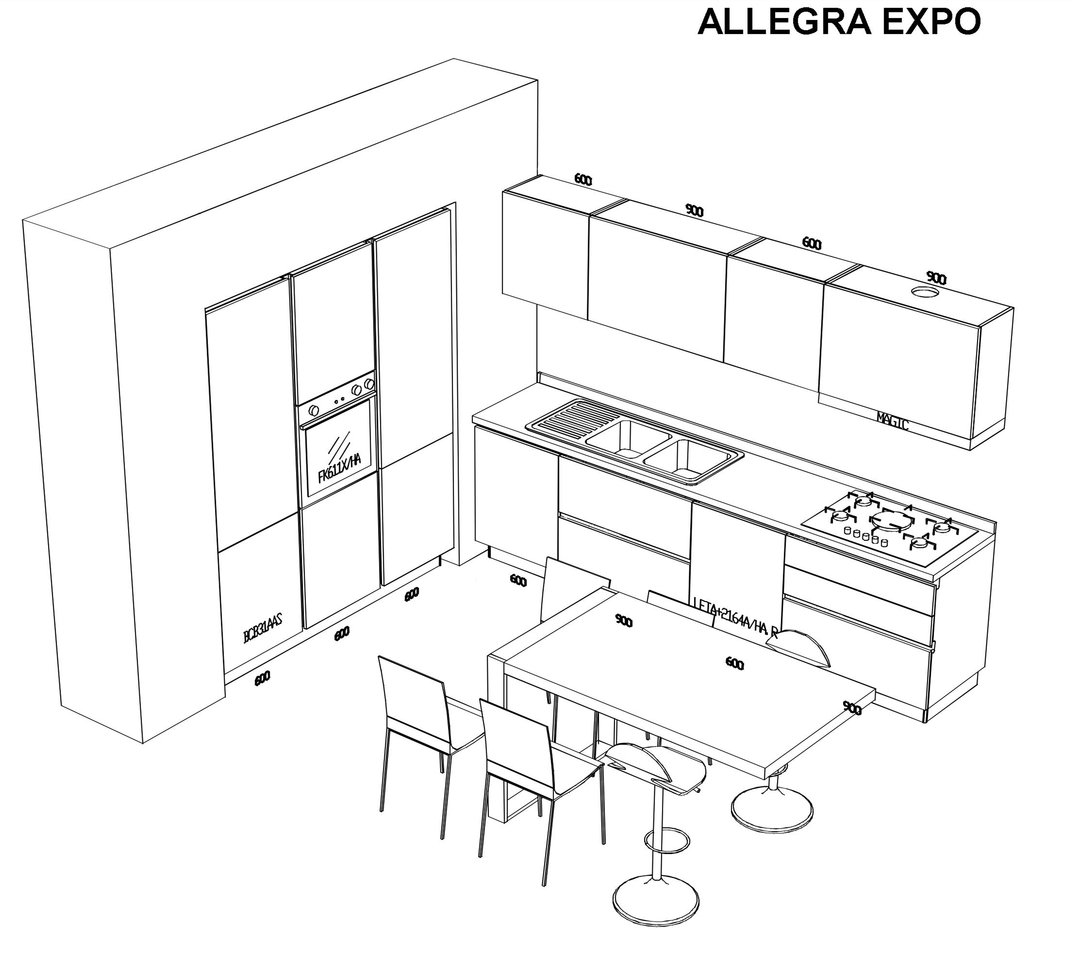Cucina stosa scontata del 48 vicino a napoli cucine a prezzi scontati - Dimensioni minime cucina bar ...