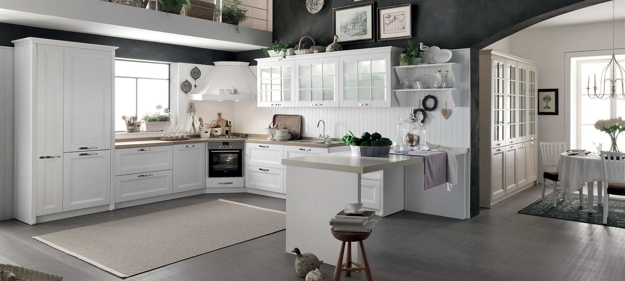 Cucina stosa cucine beverly composizione tipo 01 cucine for Outlet arredamento roma