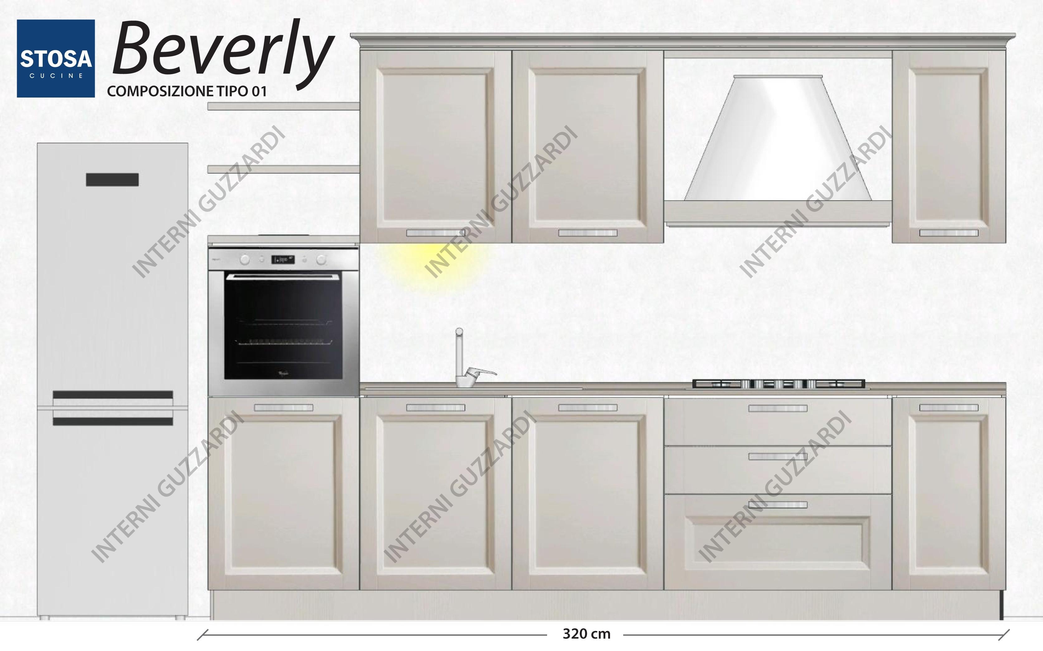 cucina stosa cucine beverly composizione tipo 01 a 6750