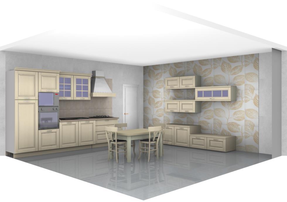 Stosa cucine cucina bolgheri cucina e soggiorno completo - Parete attrezzata stile provenzale ...