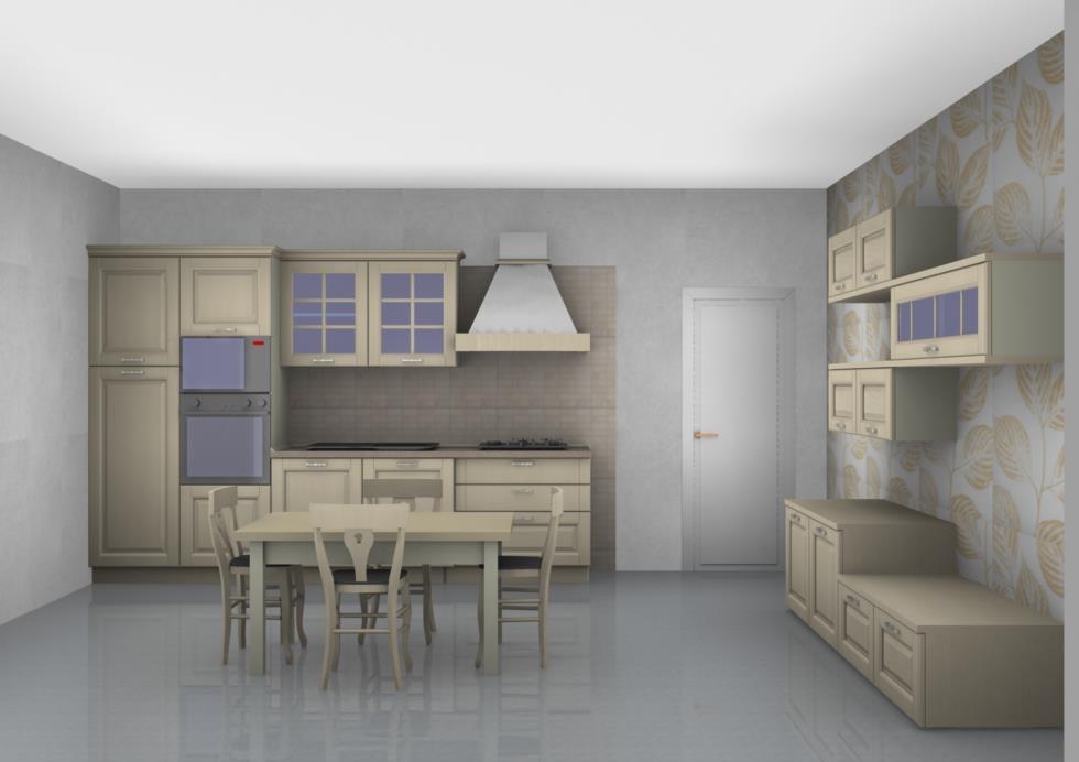 Stosa cucine cucina bolgheri cucina e soggiorno completo - Cucine d arredo ...