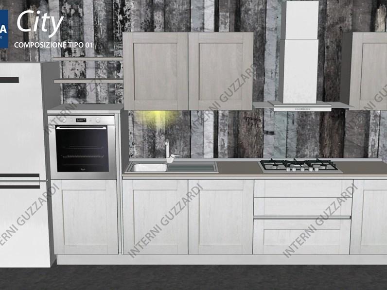 cucina Stosa Cucine City composizione tipo 01