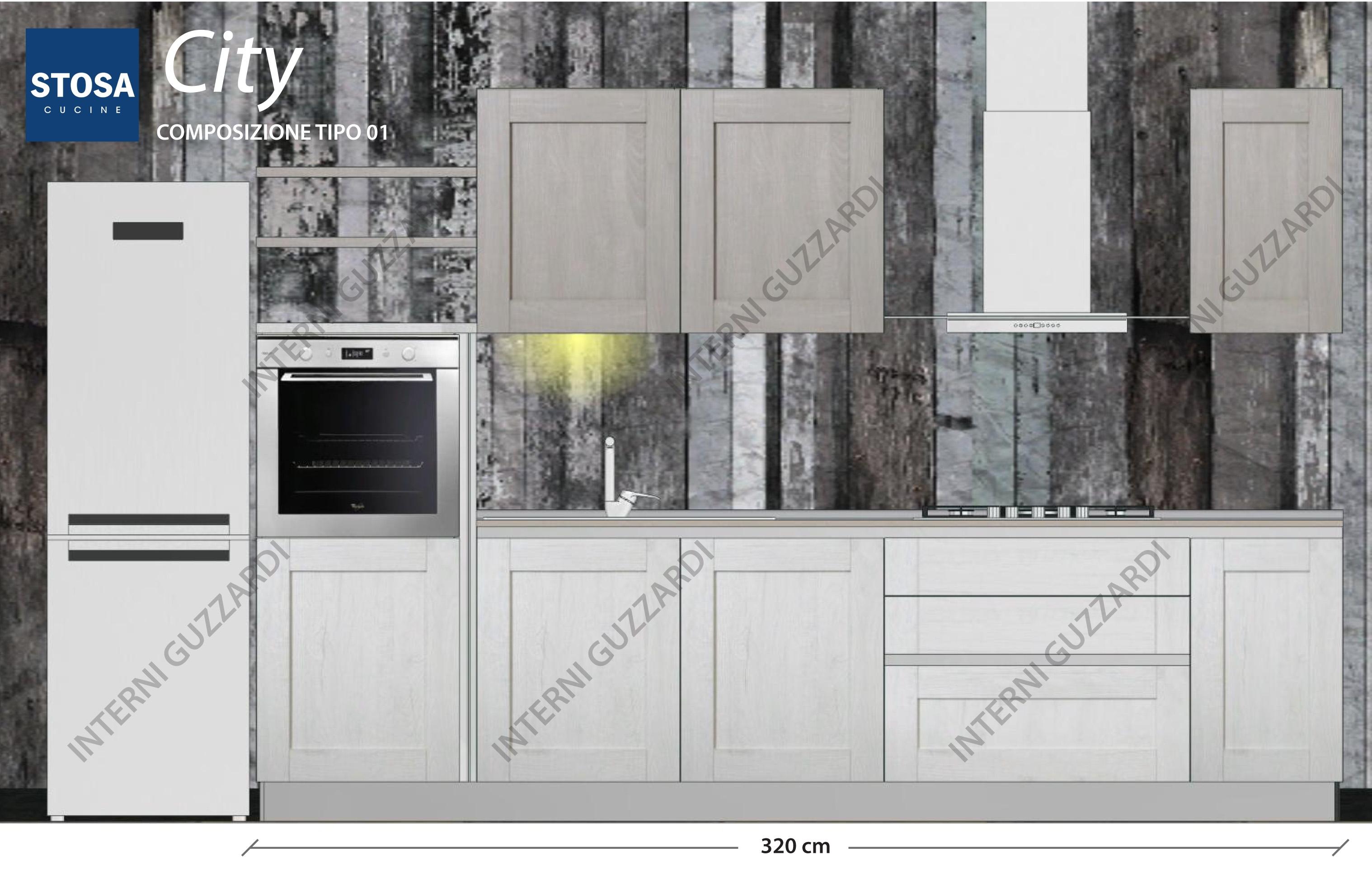 Cucina stosa cucine city composizione tipo 01 cucine a prezzi scontati - Stosa cucine prezzo ...