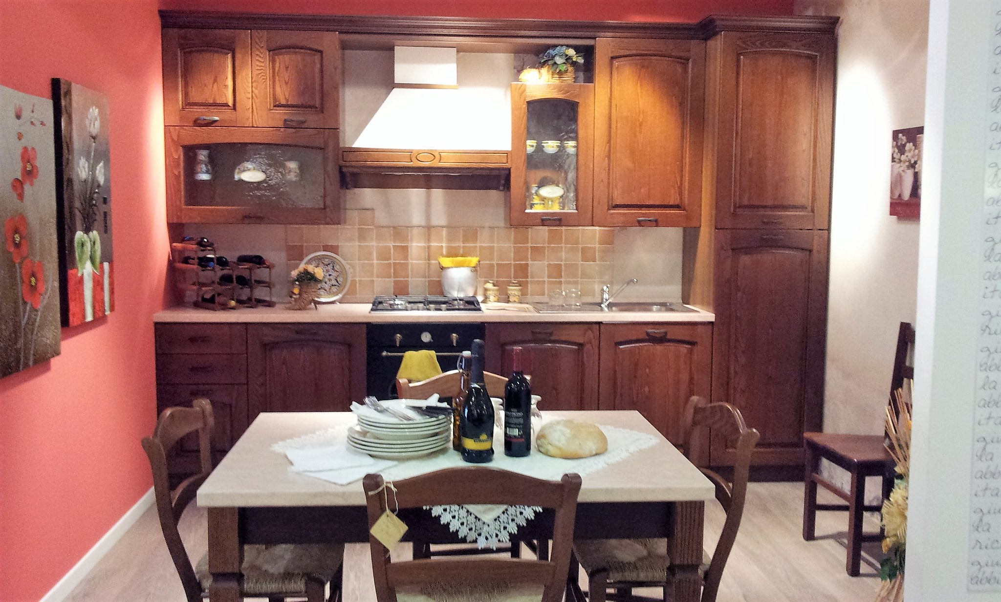 Cucina classica in noce stosa cucine focolare a prezzo - Disegni di cucine ...