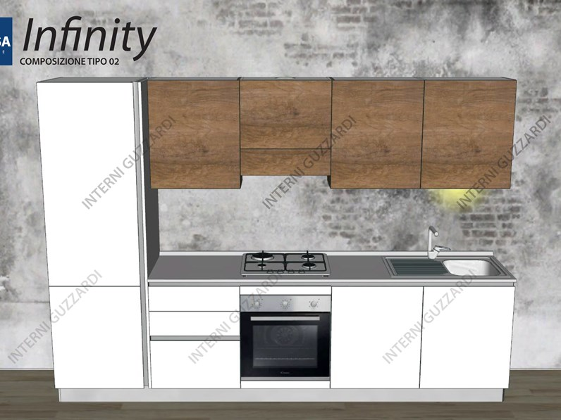 Cucina stosa cucine infinity composizione tipo 02 for Cucina stosa infinity