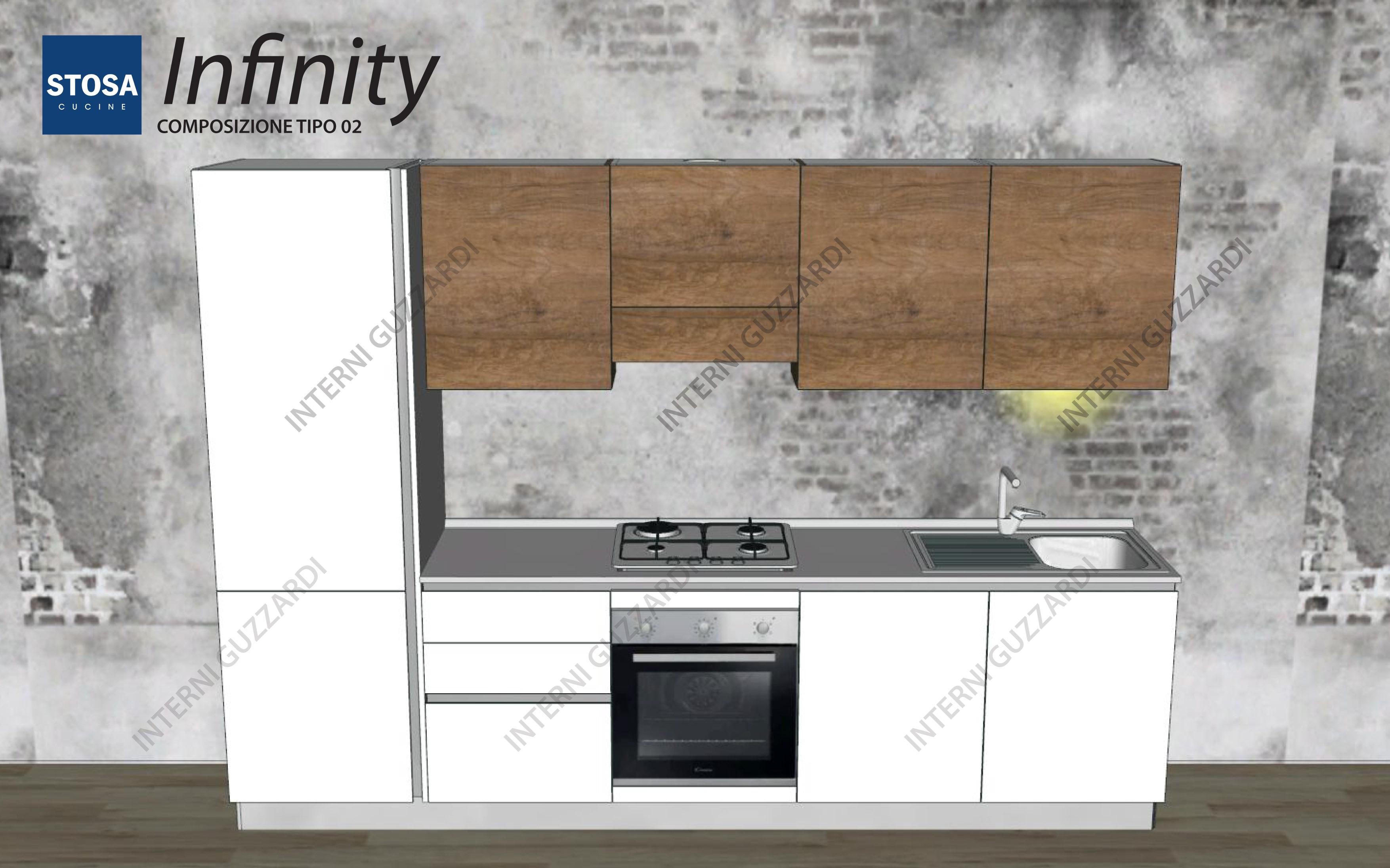 cucina stosa cucine infinity composizione tipo 02 a 520000
