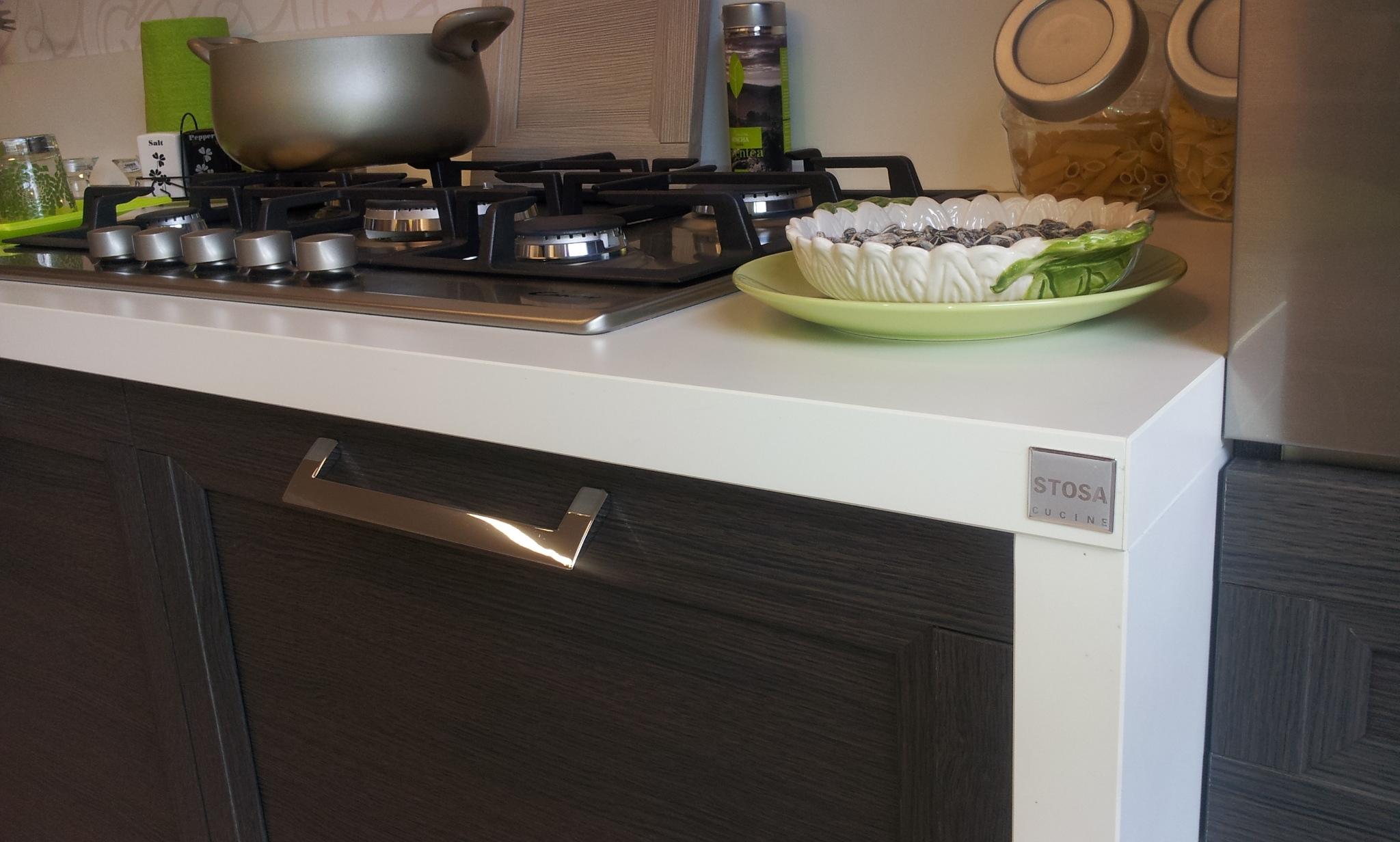 Stosa Cucine Cucina Malibù bianca e rovere grigio scontato del -55 ...