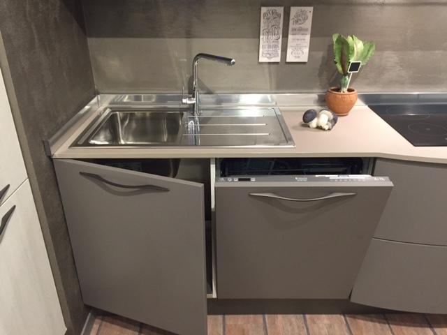 Cucina stosa cucine maya con maniglia moderno laminato materico grigio cucine a prezzi scontati - Lavello e sottolavello cucina ...