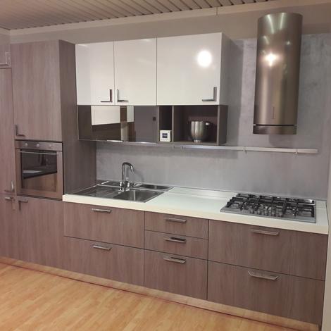 Stosa cucine cucina milly moderne laminato materico grigio cucine a prezzi scontati - Altezza cucina stosa ...