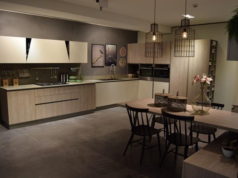 Cucina Stosa cucine moderna ad angolo altri colori in legno Infinity 5