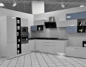 Cucina Stosa cucine moderna ad angolo grigio in polimerico lucido Replay