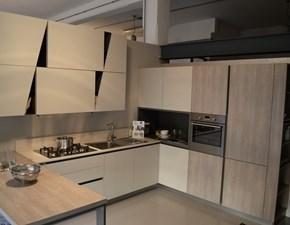 Cucina Stosa cucine moderna ad angolo magnolia in laminato opaco Infinity diagonal