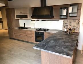 Outlet cucine con penisola prezzi sconti online 50 60 - Cucine in legno chiaro ...