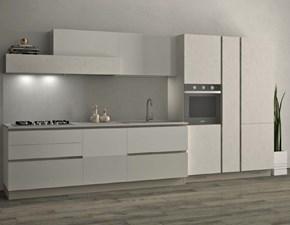 Cucina Stosa cucine moderna lineare bianca in laccato lucido Alevè
