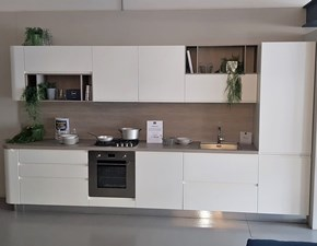Cucina Stosa cucine moderna lineare bianca in laccato opaco Bring