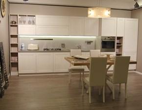 Cucina Stosa cucine moderna lineare bianca in legno Maxim