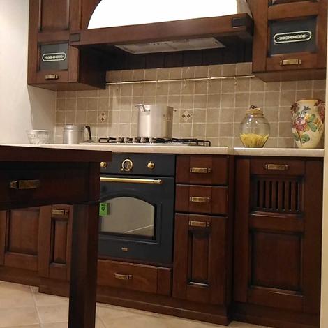 Offerta cucina stosa malaga noce scontata 51 angolare con dispensa e bancone cucine a prezzi - Altezza cucina stosa ...